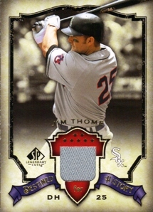 2008 SP Legendary Cuts Destined for History Memorabilia #JT Jim Thome