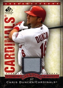 2008 SP Legendary Cuts Destination Stardom Memorabilia #CD Chris Duncan