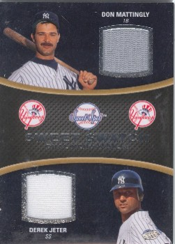 2008 Sweet Spot Swatches Dual #DMJ Don Mattingly/Derek Jeter