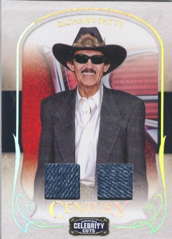 2008 Celebrity Cuts Century Material Combo #73 Richard Petty/50