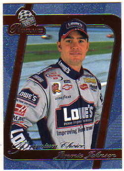 2002 Press Pass Premium Red Reflectors #75 Jimmie Johnson PC