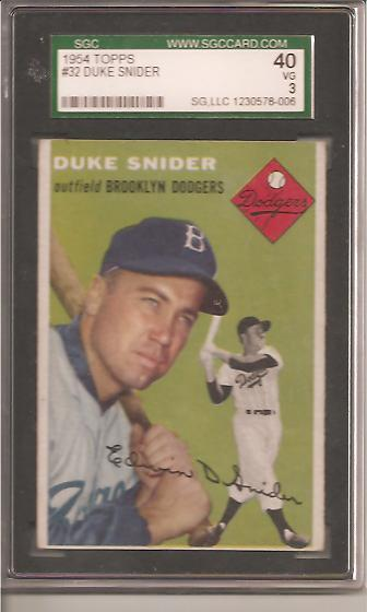 1954 Topps #32 Duke Snider