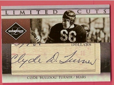 2007 Leaf Limited Cuts Autographs #8 Bulldog Turner/75