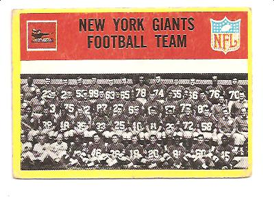 1967 Philadelphia #109 New York Giants