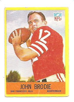 1967 Philadelphia #172 John Brodie
