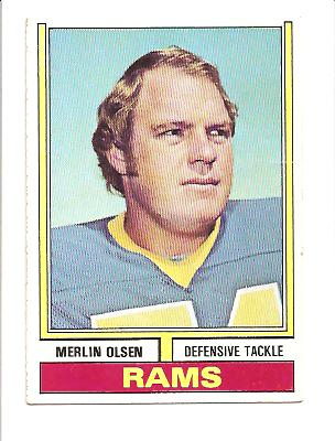 1974 Topps #205 Merlin Olsen