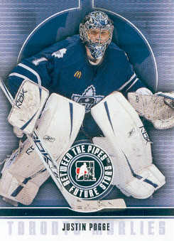 2008-09 Between The Pipes #26 Justin Pogge