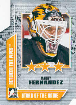 2008-09 Between The Pipes #68 Manny Fernandez