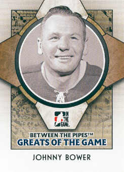2008-09 Between The Pipes #77 Johnny Bower