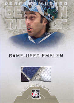 2008-09 Between The Pipes Emblems #GUE19 Roberto Luongo front image