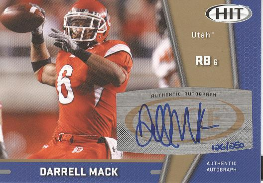 2009 SAGE HIT Autographs Gold #32 Darrell Mack