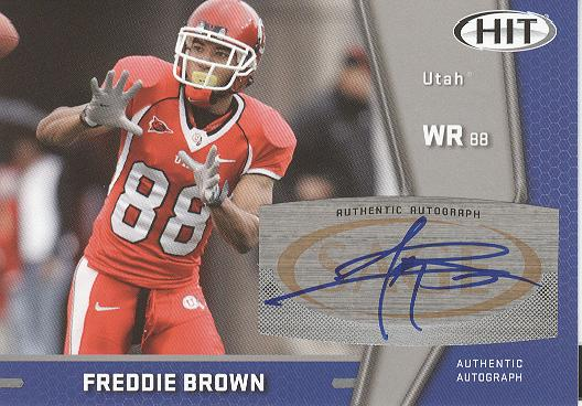 2009 SAGE HIT Autographs Silver #38 Freddie Brown