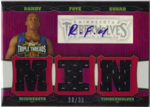 2006-07 Topps Triple Threads Relics Autographs #92 Randy Foye MIN