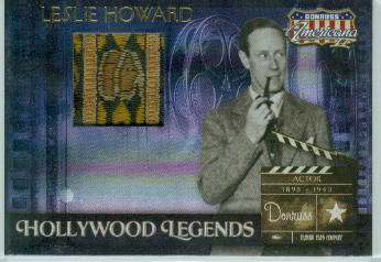 2008 Americana II Hollywood Legends Material #59 Leslie Howard/500