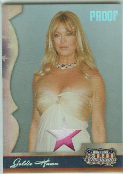 2008 Americana II Stars Material Silver Proofs #107 Goldie Hawn/100