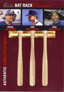2003 Flair Greats Bat Rack Classics Trios #4 Reggie/Mattingly/Winfield