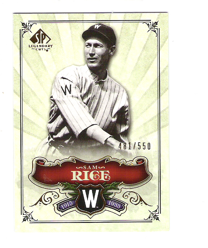 2006 SP Legendary Cuts #178 Sam Rice