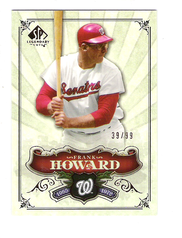 2006 SP Legendary Cuts Bronze #175 Frank Howard