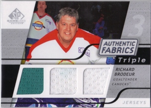 2008-09 SP Game Used Triple Authentic Fabrics #3AFRD Richard Brodeur