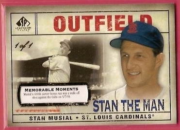 2008 SP Legendary Cuts Memorable Moments #196 Stan Musial