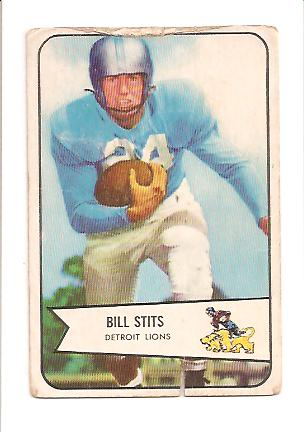 1954 Bowman #5 Bill Stits RC