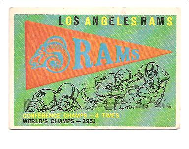 1959 Topps #126 Rams Pennant
