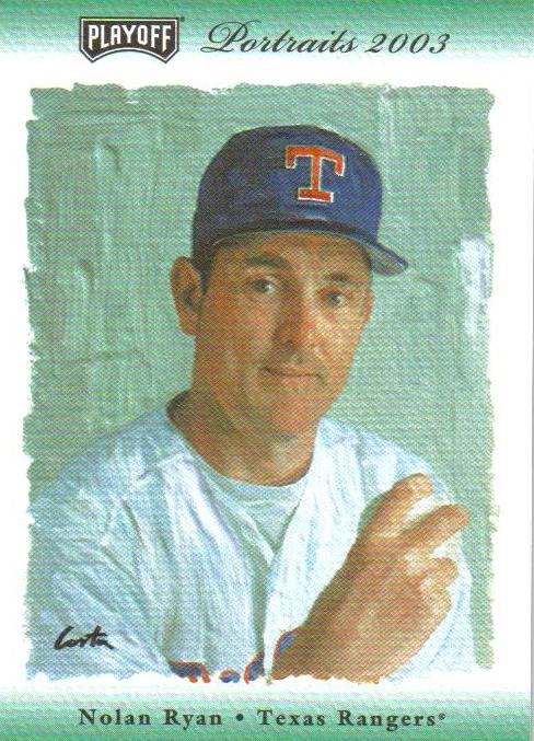 2003 Playoff Portraits FanFest Green #56 Nolan Ryan Rgr