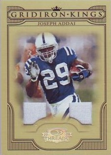 2008 Donruss Threads Pro Gridiron Kings Materials #7 Joseph Addai