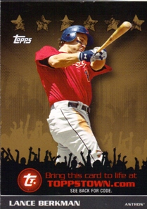2009 Topps Topps Town Gold #TTT20 Lance Berkman