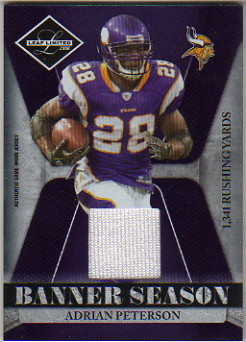 2008 Leaf Limited Banner Season Materials #1 Adrian Peterson