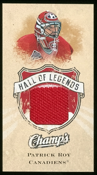 2008-09 Upper Deck Champ's Hall of Legends Sports Memorabilia #HOLPR Patrick Roy