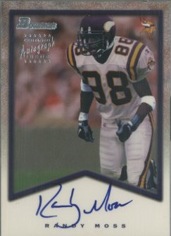 1998 Bowman Rookie Autographs Silver #7 Randy Moss