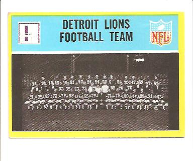 1967 Philadelphia #61 Detroit Lions