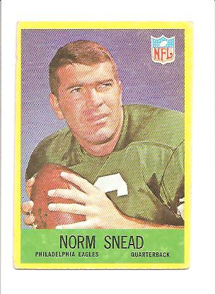 1967 Philadelphia #142 Norm Snead
