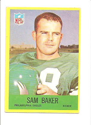1967 Philadelphia #134 Sam Baker