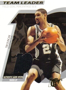 2002-03 Topps Ten Team Leader Relics #TLTD Tim Duncan/1500
