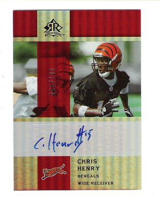 2005 Reflections Rookie Exclusives Autographs Red #RECH Chris Henry