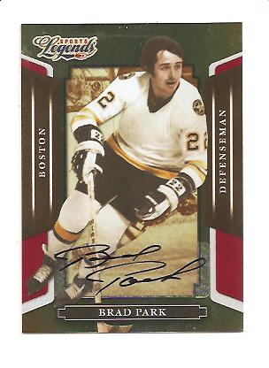 2008 Donruss Sports Legends Signatures Mirror Red #66 Brad Park/269