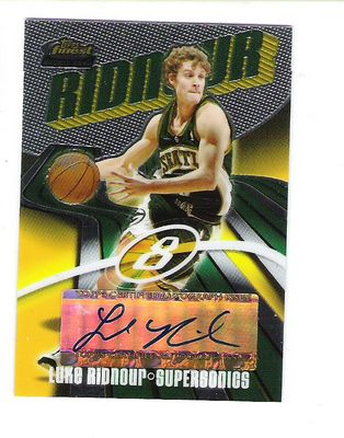 2003-04 Finest #162 Luke Ridnour AU RC
