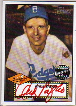 2001 Topps Heritage Autographs Red Ink #THAAP Andy Pafko