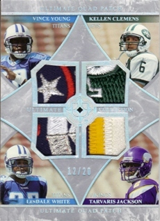 2006 Ultimate Collection Jerseys Quad Patch #YWCJ Vince Young/LenDale White/Kellen Clemens/Tarvaris Jackson
