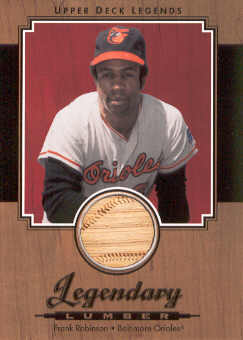 2001 Upper Deck Legends Legendary Lumber #LFR Frank Robinson