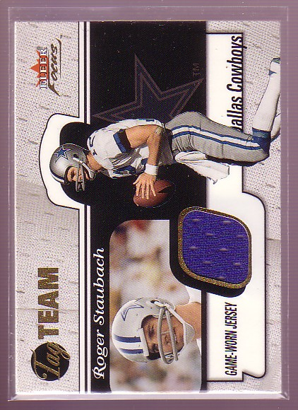 2001 Fleer Focus Tag Team #TTRS Roger Staubach