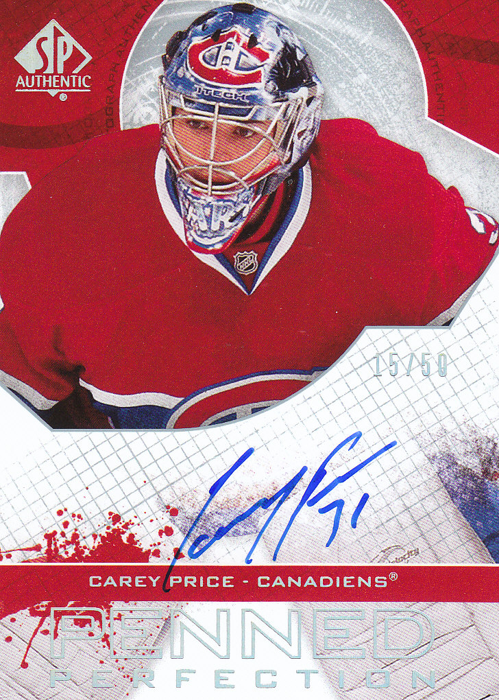2008-09 SP Authentic Penned Perfection #PPCP Carey Price