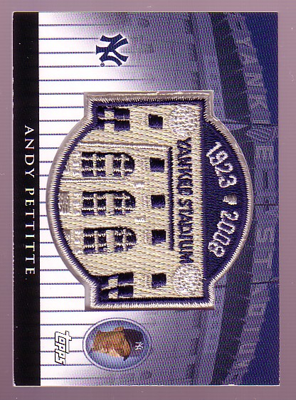 2008 Topps Commemorative Patch Relics #AP Andy Pettitte