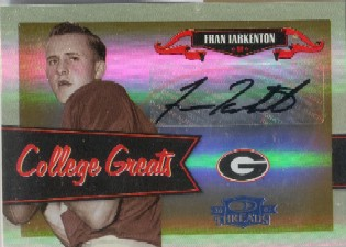 2007 Donruss Threads College Greats Autographs #18 Fran Tarkenton/10