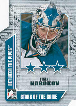 2008-09 Between The Pipes #60 Evgeni Nabokov