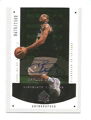 2002-03 SP Authentic #169 Carlos Boozer AU RC