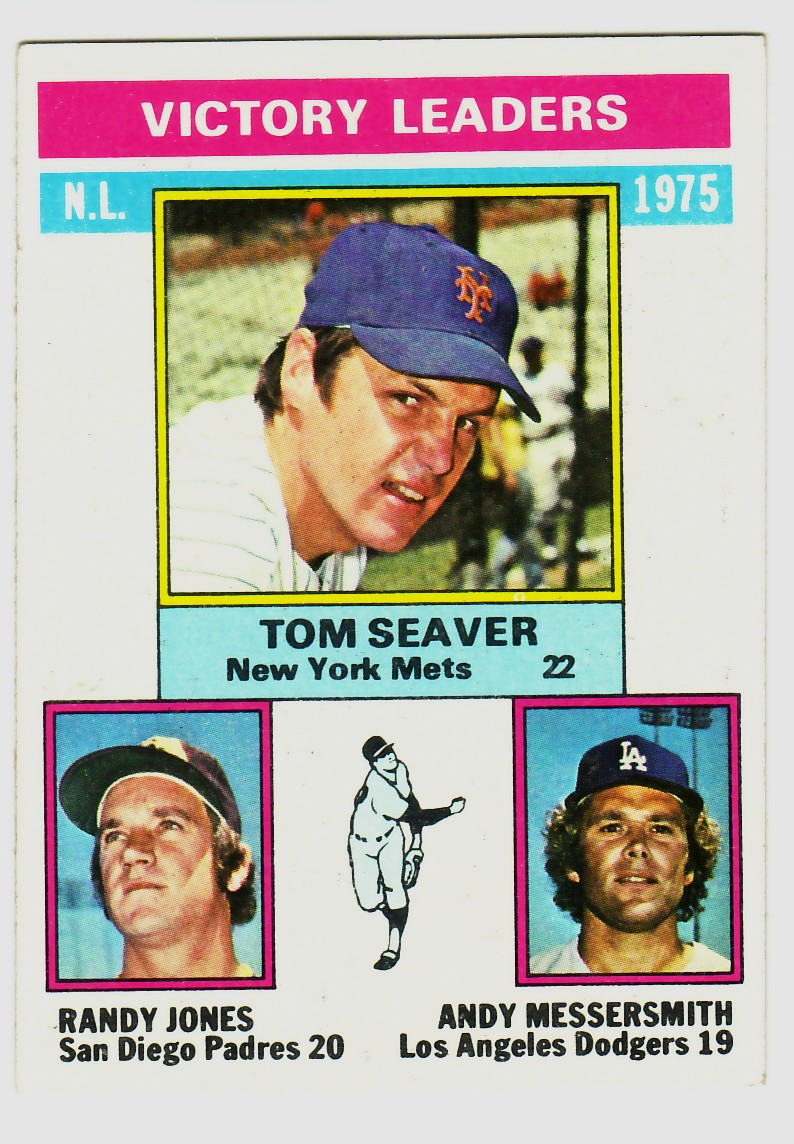 1976 Topps #199 NL Victory Leaders/Tom Seaver/Randy Jones/Andy Messersmith front image