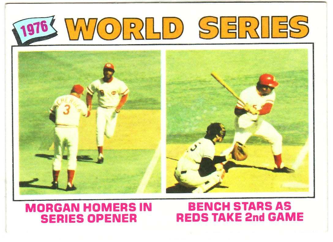 1977 Topps #411 World Series/Joe Morgan/Johnny Bench